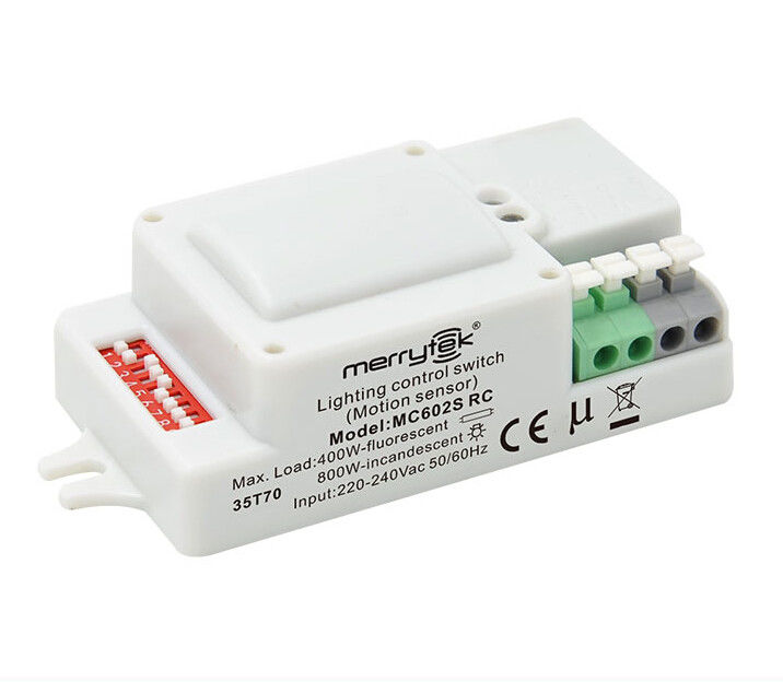 MC602S RC High Frequency Microwave Motion Sensor Dimmable Motion Sensor For Lights